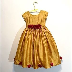 Vintage Little Mass Silk Gold Dress
